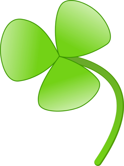 526x700 Clipart Of Shamrocks And Four Leaf Clovers