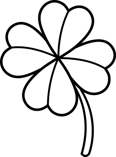408x550 Colorable Four Leaf Clover