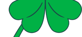 272x125 4 Leaf Clover Clip Art Of A Three And Four Leaf Clovers Growing