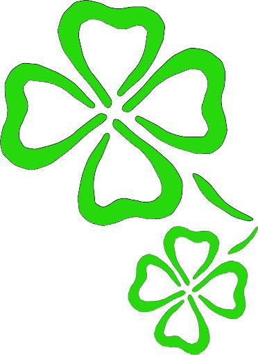 372x512 Four Leaf Clover 4 Leaf Clover Clipart Of Shamrocks And Four