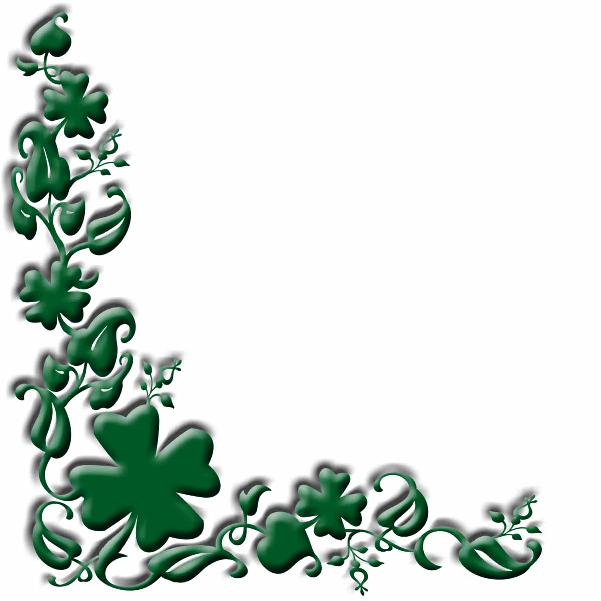1200x1200 Four Leaf Clover Clipart Free Images