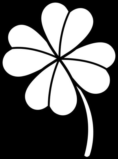 408x550 Colorable Four Leaf Clover