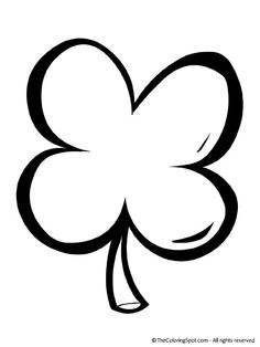 236x314 cute four leaf clover coloring pages kids coloring pages - 4 Leaf Clover Coloring Page