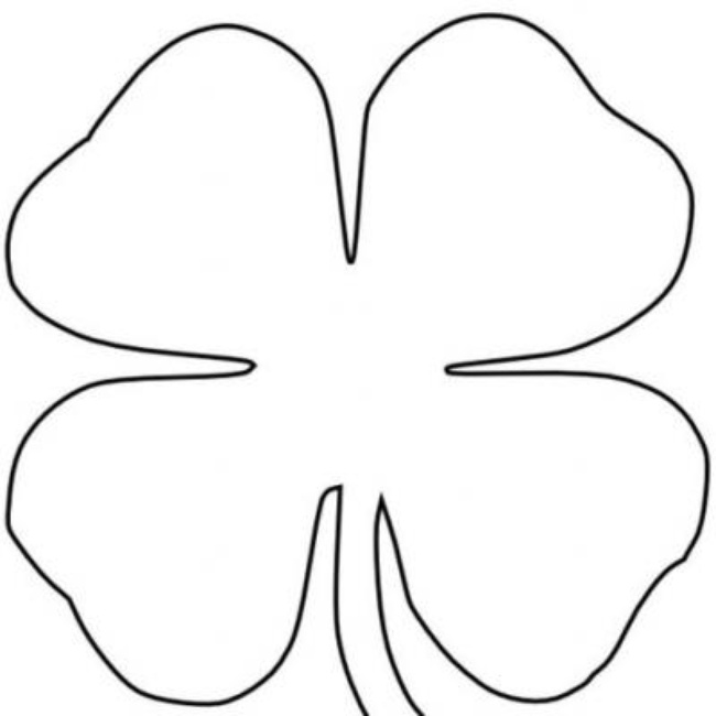 650x650 Four Leaf Clover Coloring Pages