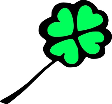 396x368 Four Leaf Clover Svg Free Vector Download (88,468 Free Vector)