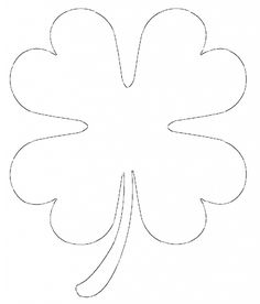 236x276 Free Printable Four Leaf Clover Templates Large Amp Small Patterns