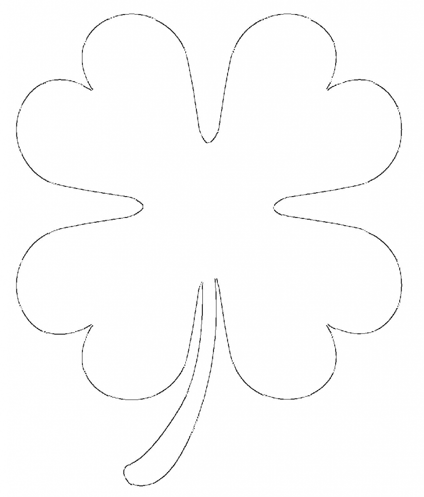 874x1024 Free Printable Four Leaf Clover Templates Large Amp Small Patterns