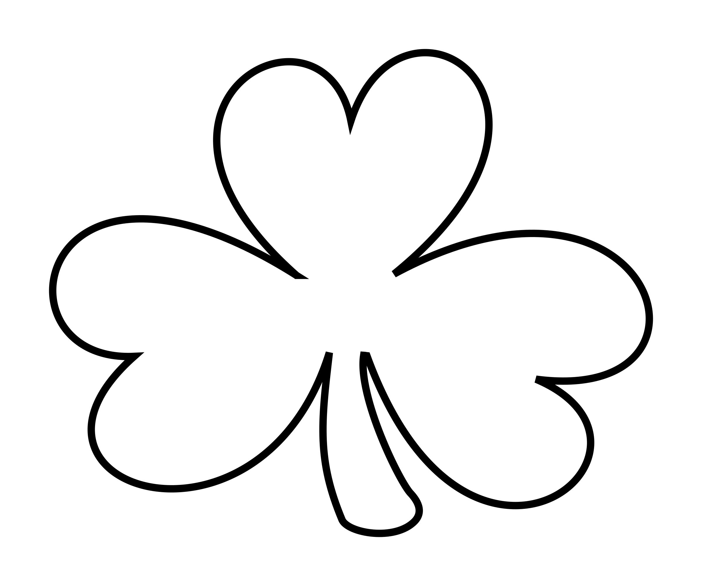 2400x2005 Shamrock Outline Clip Art