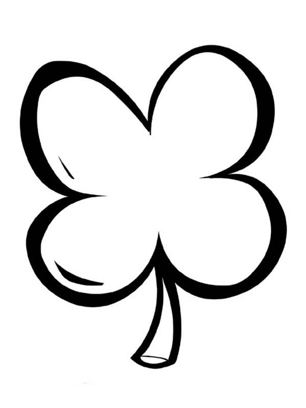 600x800 Simple Drawing Of Four Leaf Clover Coloring Page