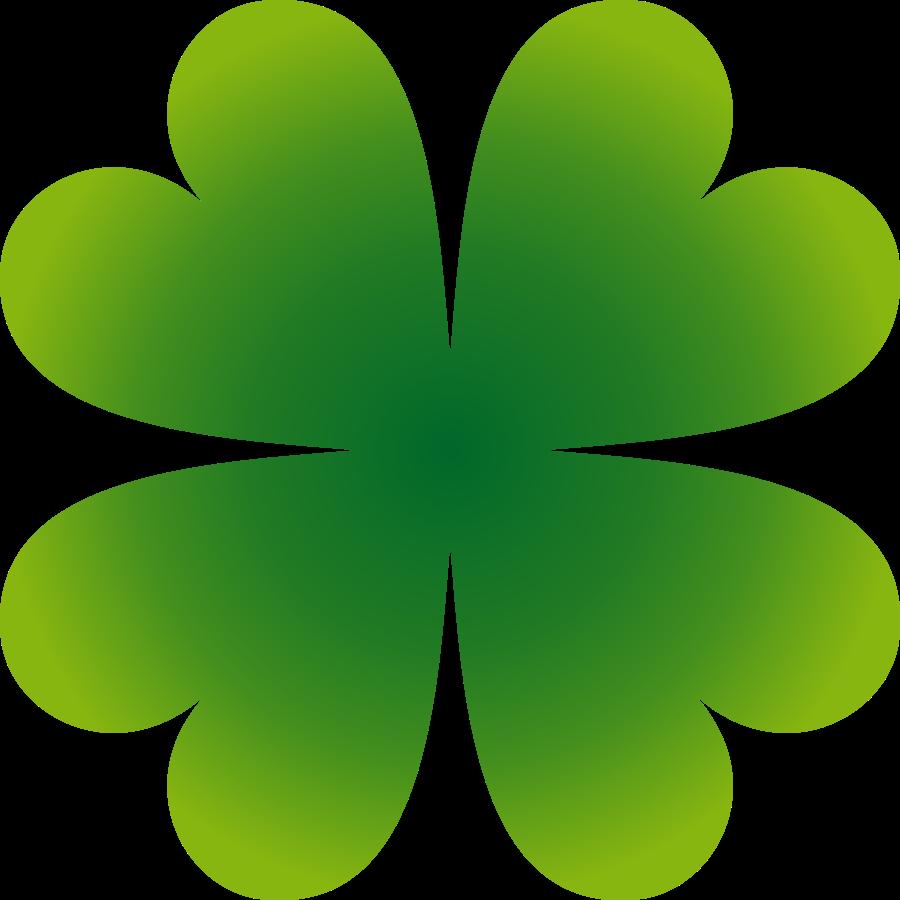 900x900 Simple Four Leaf Clover Clipart