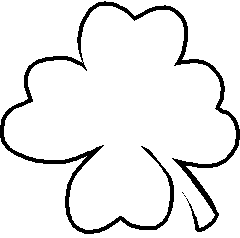 490x487 4 Leaf Clover Free Clover Clipart Holiday Stpatrick Clip Art 5