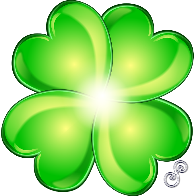 676x685 Four Leaf Clover For Luck!