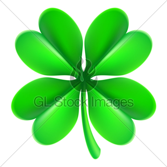 325x325 Four Leaf Clover Gl Stock Images