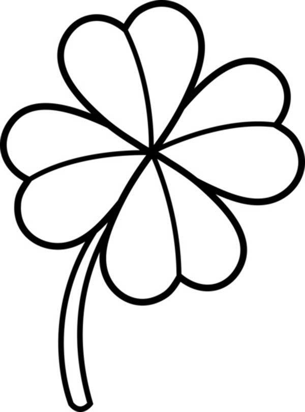 600x809 Clover Clipart Drawing