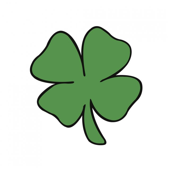 728x728 Four Leaf Clover Version Clip Art Simple Pictures Of Clovers