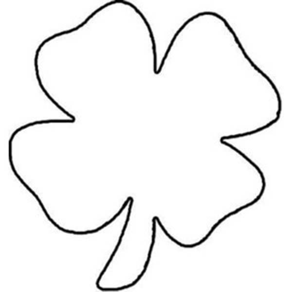 This is a photo of Four Leaf Clover Printable Template for irish