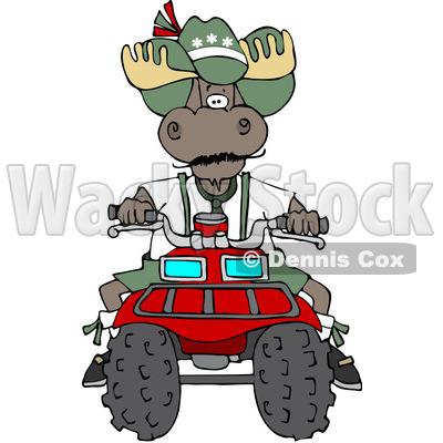 400x400 Free (Rf) Clipart Illustration Of Bull Moose Operating
