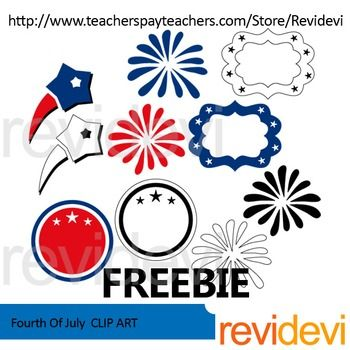 Fourth Of July Fireworks Clipart