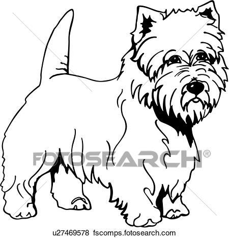 450x467 Clip Art Of Fox Terrier U17678056