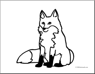 304x236 Fox Black And White Clip Art Basic Words Fox Free Clipart Images