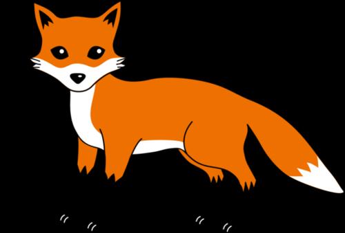 500x339 Fox Black And White Cute Fox Black And White Clipart 8