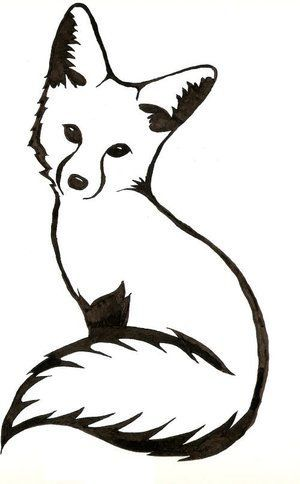 300x484 Best Fox Silhouette Ideas Squirrel Silhouette