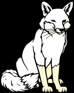 237x298 Black And White Fox Clip Art