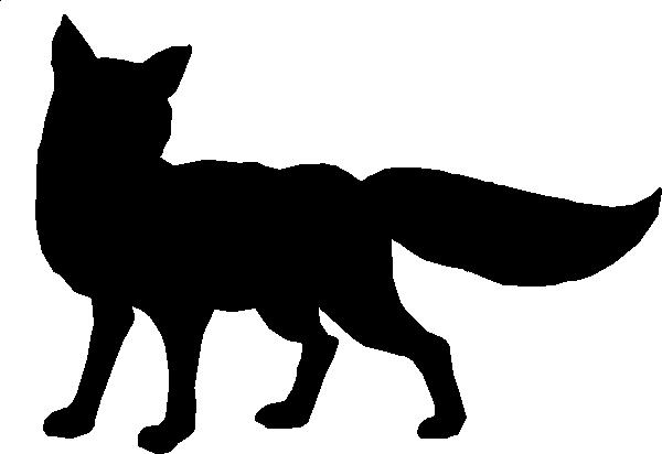 600x412 Black Fox Outline Clip Art