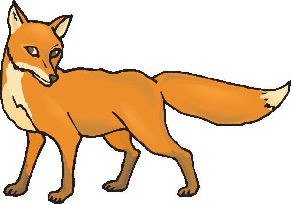 600x421 Shy Fox Clip Art
