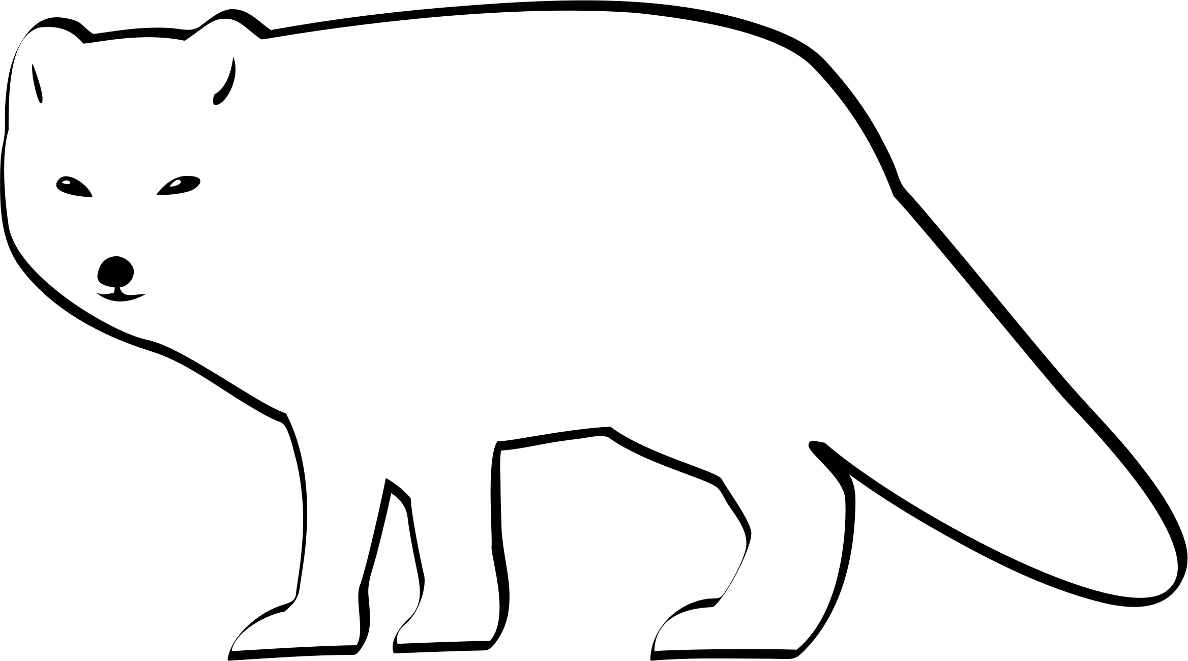 2336x1300 Arctic Clipart Black And White