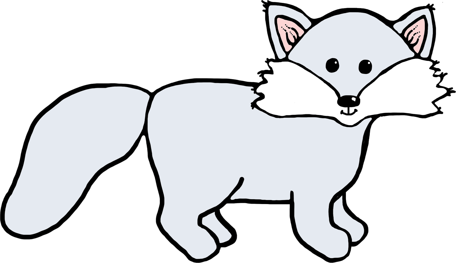 1600x924 Arctic fox clipart kid