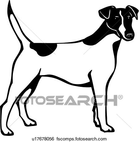 450x461 Clip Art Of Fox Terrier U17678056
