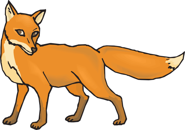 600x421 Fox Clipart Black And White Free Clipart Images