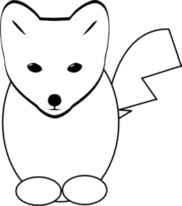 264x298 Fox head clipart black and white
