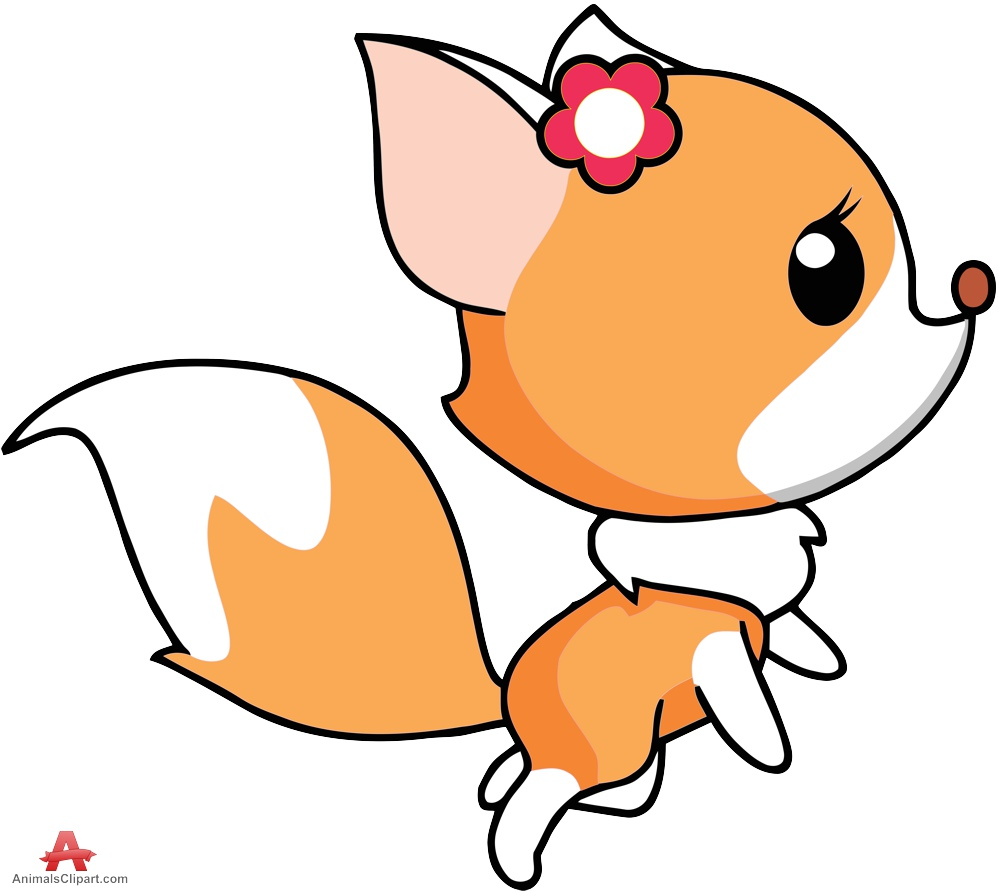 999x891 Cute Fox Girl Clipart Cartoon Free Clipart Design Download