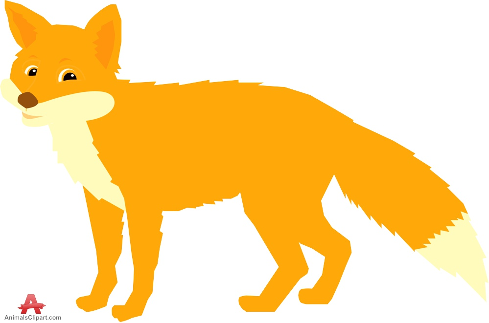 999x661 Animals clipart of fox with the keywords
