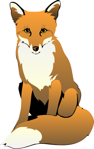 378x598 Fox Clip Art Black And White Fox Sitting Clip Art Foxy Fox