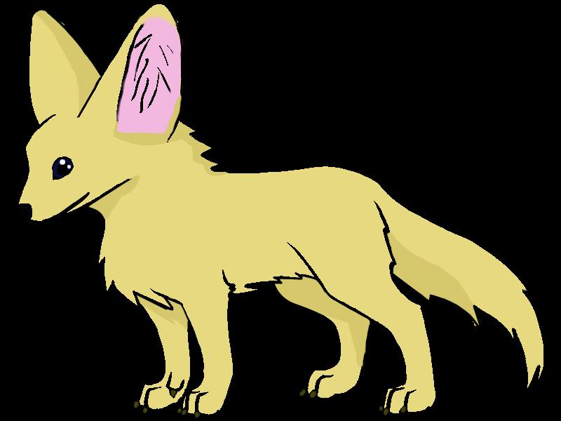 800x600 Fennec Fox clipart