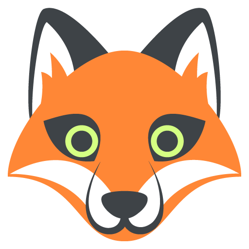 512x512 Fox Face Emoji Vector Icon