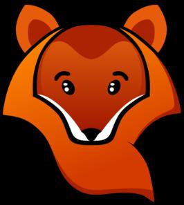 266x297 Fox Head Clip Art