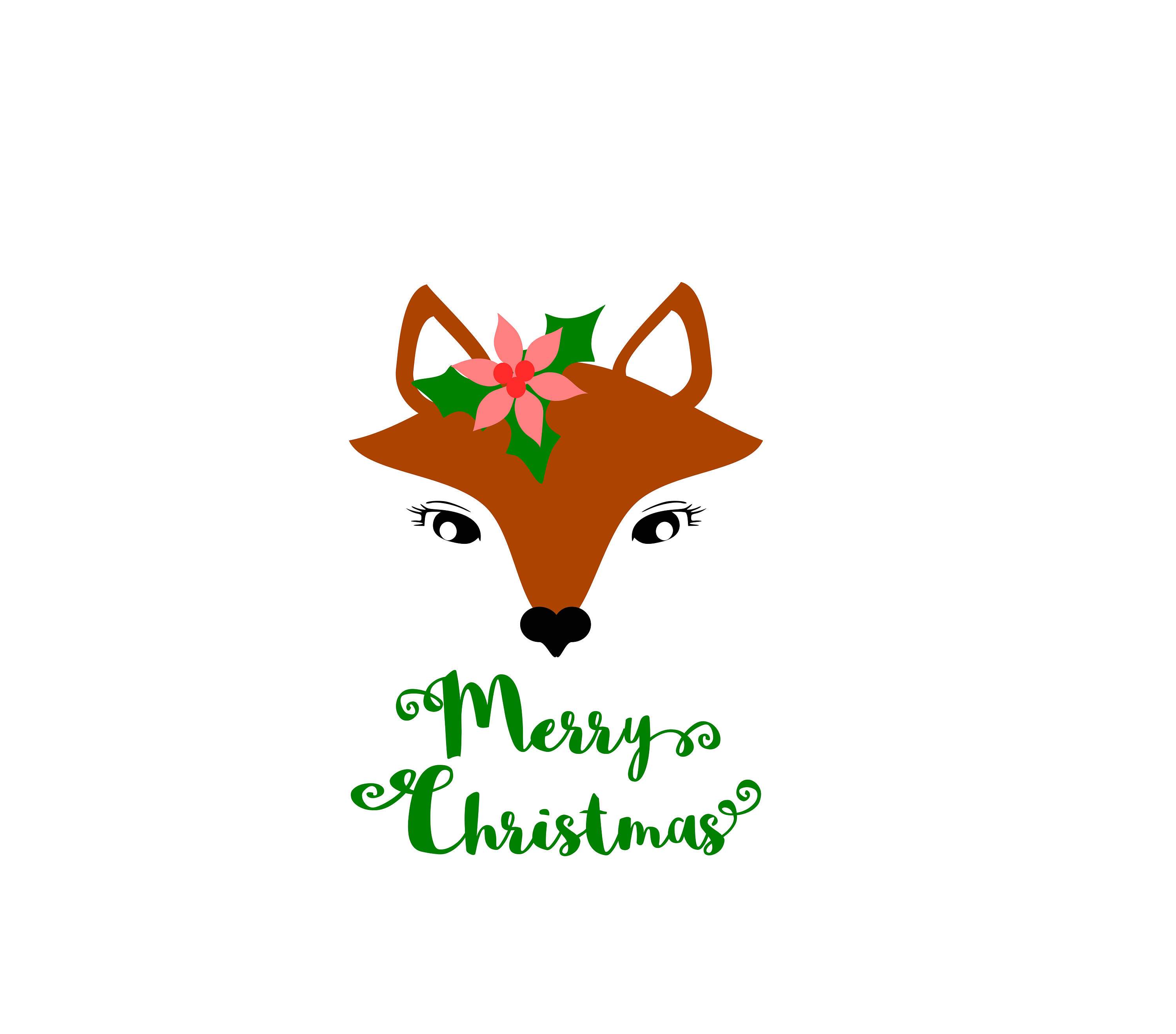 3000x2639 Fox Svg, Fox Christmas Svg, Svg Files, Fox Face Svg, Christmas