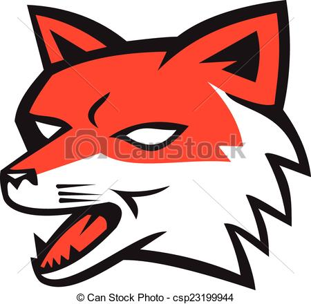 450x440 Fox Clipart Angry
