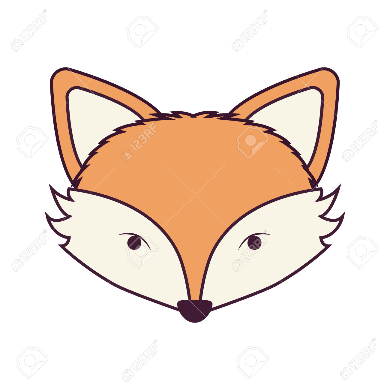 1300x1300 Fox Clipart Fox Face
