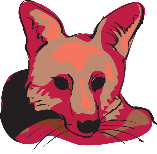 600x591 Red Fox Face Clip Art