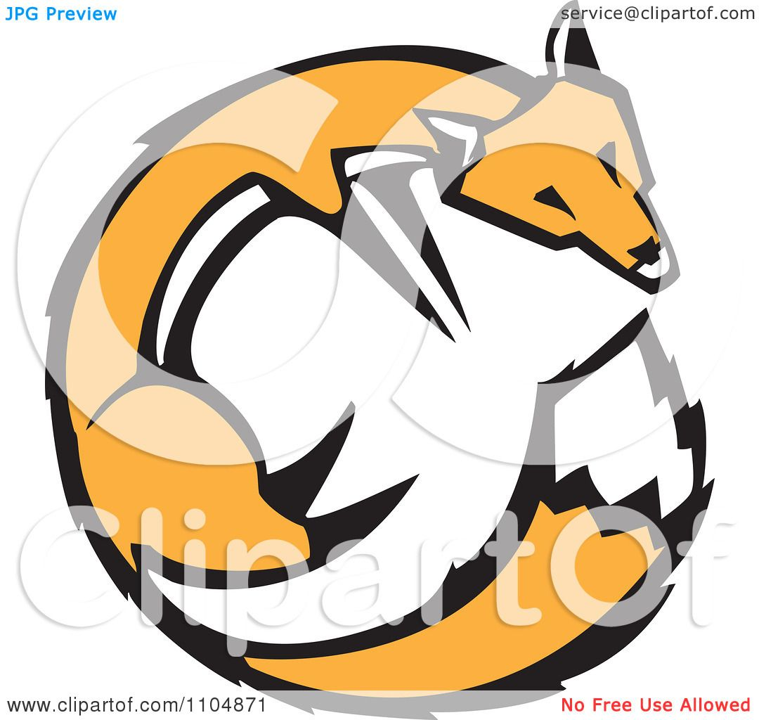 1080x1024 Royalty Free (Rf) Clip Art Illustration Of A Fox Face Logo By