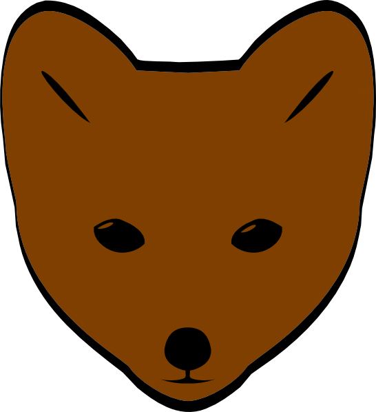 546x598 Brown Fox Face Clip Art