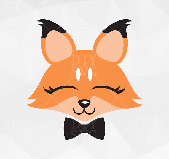570x537 Fox Svg Fox Face Svg Fox Bow Tie Fox Clip Art Fox Cut Files Cut