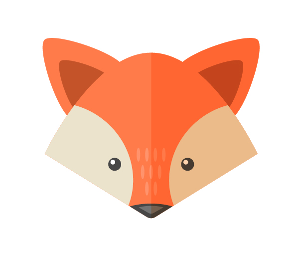 600x507 Drawn Adorable Fox Face