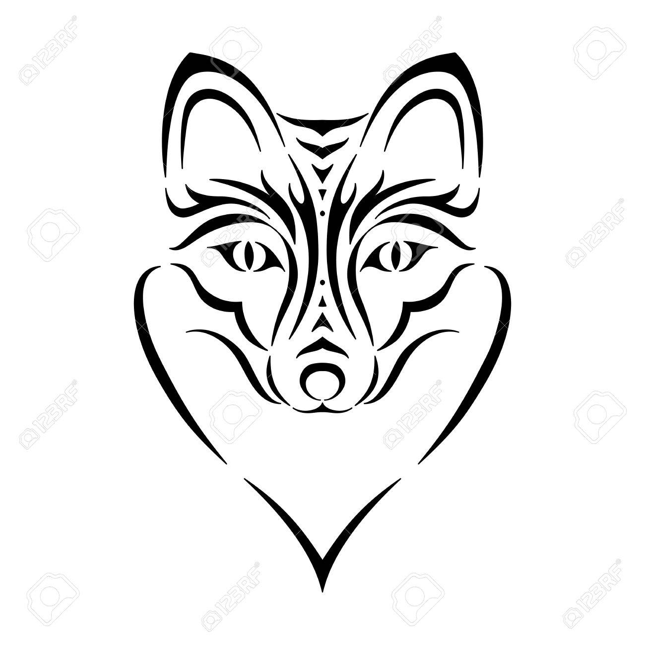 1300x1300 Fox Face Cartoon Outline Images