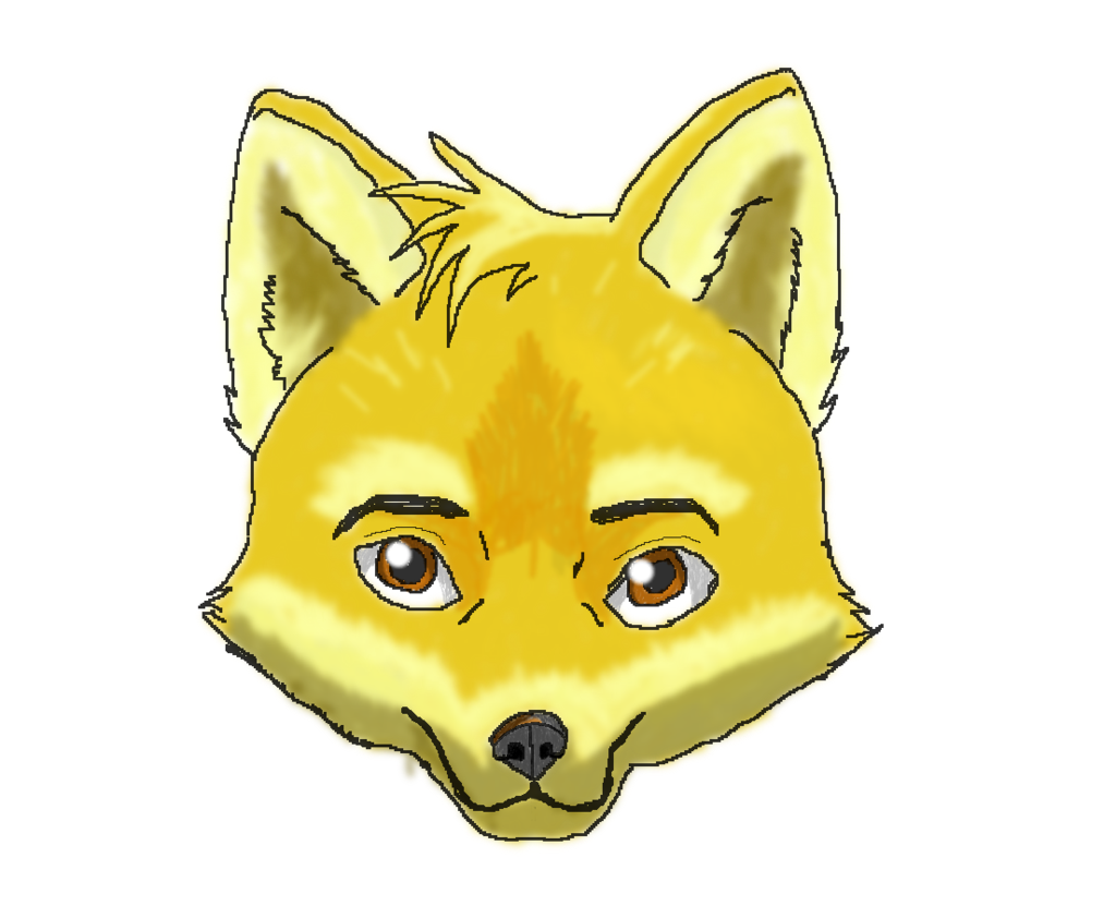1024x831 Fox Face By Megazer047